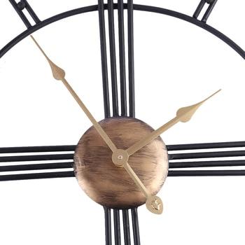 украшения гостиной | Homingdeco Ретро железное искусство антикварные немой настенные часы домашний офисный Декор бесшумные настенные часы кварцевые наручные часы, ...