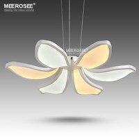 Novo Design LEVOU Luz do Candelabro Flor Forma Acrílico CONDUZIU a Lâmpada Para Sala de estar Moderna Sala de Jantar Luz lamparas de techo