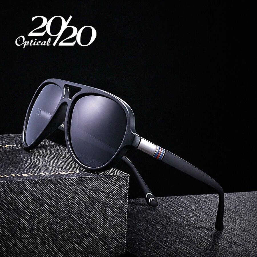 20/20 Classic Polarized Sunglasses Men Glasses Coating Black Oval Frame Driving Eyewear Male Sun Glasses Oculos PL302
