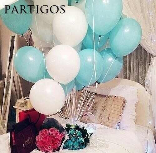 30pcs Lot 22g 10 Inch Tiffany Blue White Latex Balloons Wedding Birthday Party Decorations Helium Inflatable Globos Matt Pink In Ballons Accessories From