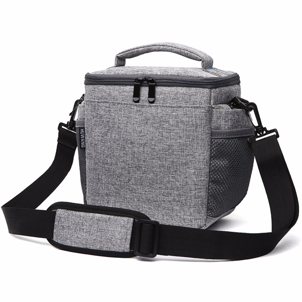 Sling Cross-body Bag Padded Backpack Case Waterproof Canvas Photography SLR Camera For Canon Nikon Sony FujiFilm Olympus Bag