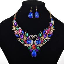 NANBO MX0014 New Fashion Hollow Charm Necklaces Bow Maxi Peacock Jewelry sets Short Accessories gifts