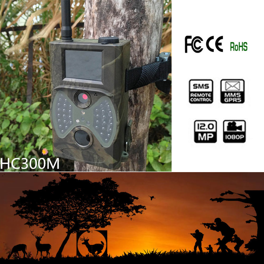 hc300m Motion Detector photos-trap hunting camera 2G 12MP Email scouting camera MMS GPRS SMS wild phototrap hunting trail camera scouting hunting camera trap hc300m new