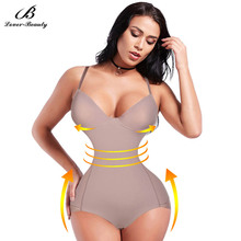 Lover Beauty Lace Slimming Body Shaper Push Up Bra Tummy Control Abdomen Fat Bodysuit Underwear Lingerie Recovery Shaperwear