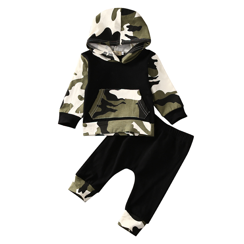 2016 Toddler Kids Baby Boy Clothes Fashion Camo Hoodie Tops Long Pants 2Pcs Outfits Bebek Giyim Clothing Set toddler kids baby boy girls summer clothes sets christmas batman outfits tops long pants 2pcs casual clothes set 2016 newest