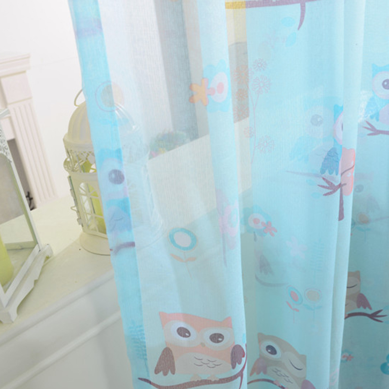 2015 cartoon owl shade blinds finished window blackout curtains ...