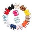 Lace Up zapatos de bebé primeros caminante pu suela blanda hecho a mano del bebé zapatos mocasines franja niño niños botas 2017 nueva