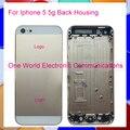 Oro blanco negro rosa para iphone 5 5g para sí estilo nuevo Chasis Marco Medio Vivienda Contraportada Puerta de la Batería Caso de Seguimiento código