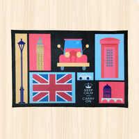 London city area rug for kitchen for bedroom for living room floor rug UK England landmark souvenir kids rug carpet doormat
