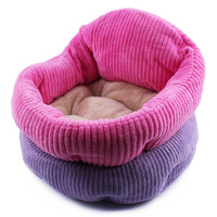 High Quality 2016 New Pet Dog Bed Coral Velvet Dog House Kennel Purple Pink Puppy Beds