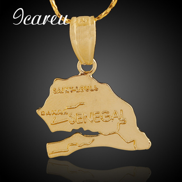 Wholesale hip hop rock senegal map pendant necklace jewelry for male wholesale hip hop rock senegal map pendant necklace jewelry for male female gold color world gumiabroncs Image collections