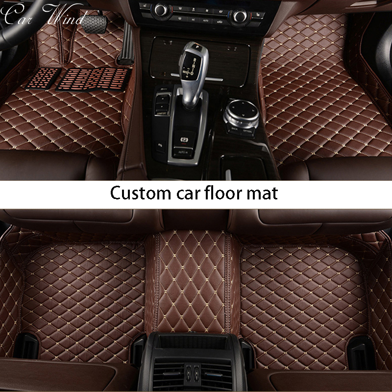 Car wind leather car floor mat for vw passat b5 6 polo golf tiguan jetta touran touareg waterproof liner Carpets car accessories