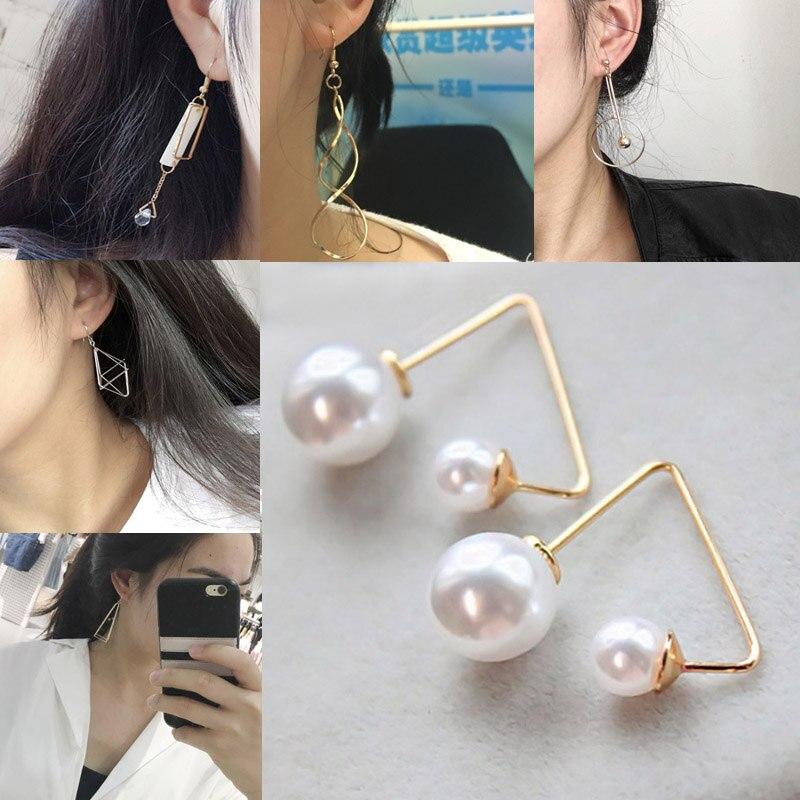 LNRRABC Women Fashion Earrings Jewelry Accessories *Hoop Earring Irregular Geometry Tassel Creative