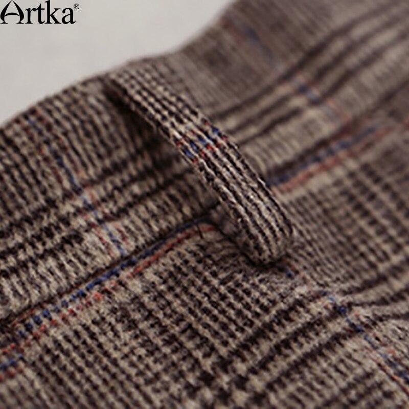 用冬の女性のウールスカートロリータショートスカート女の子のためのヴィンテージ格子縞のスカートミニサイア QA10058Q Dollar Limo