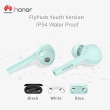 In stock original Huawei Honor FlyPods Youth Version TWS Wireless Bluetooth Earphone With Mic Music Sport Fashion Touch Headset 100% original huawei honor xsport bluetooth earphone am61 ipx5 music waterproof wireless earphone for android ios with mic