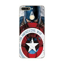 For Huawei Honor 7A Pro Case Cover Fundas Honor 7A Pro 5.7″ Novelty Captain America on Phone Case Coque For Huawei Honor 7A Pro