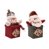 1pcs Apple Boxes Merry Christmas Santa Claus Snowman Doll Gifts Box Candy Holders Storage Decoration Box