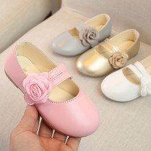 Infant Kids Baby Girls Flower Dance Performance Single Princess Casual Shoes (3-12Y)