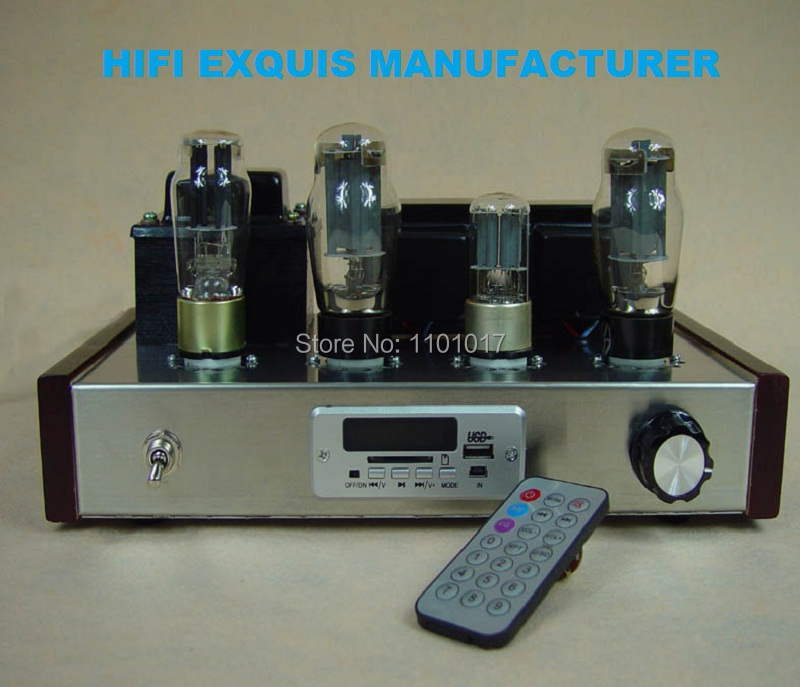 6N9P 6P3P Tube Amplifier HIFI EXQUIS single-ended 6L6 Lamp USB MP3 Radio Decoder Finished Amp mesa boogie 6l6 gc str 440 duet vacuum tube