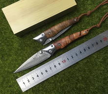 LEMIFSHE L02 складной нож Дамаск Лезвие медная прокладка красный тени деревянной ручкой Отдых Открытый Тактический Выживание EDC инструмент
