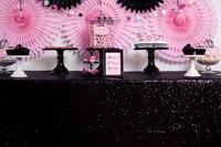 Wholesale 10pcs Lot Black Sequin RECTANGULAR Tablecloth 90x132inch Sequin Table Cloth Wedding Party Banquet Supplies Decoration