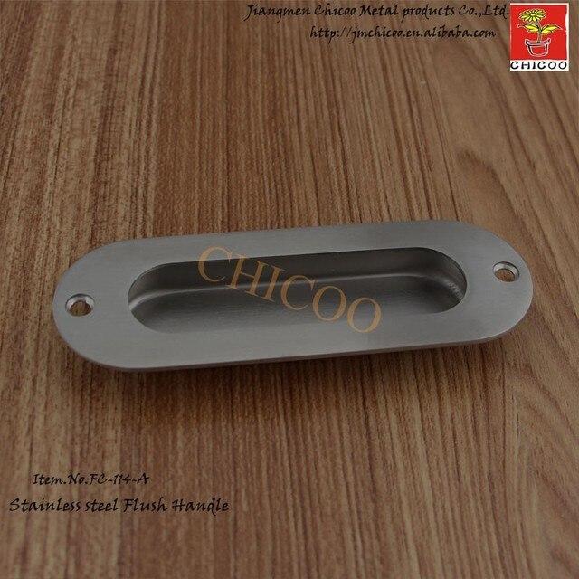 651456b9450a3f Poignée de tiroir d'armoire à porte coulissante ovale en acier inoxydable  poignées de tirage
