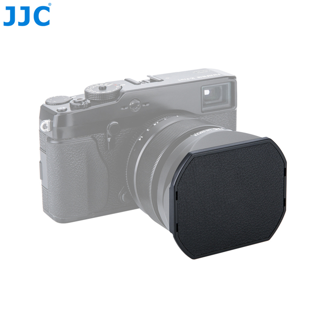 Jjc tampa da lente da câmera, para fujifilm LH XF23 e jjc lente LH JXF23 capuz 62mm preto protetor, LC JXF23