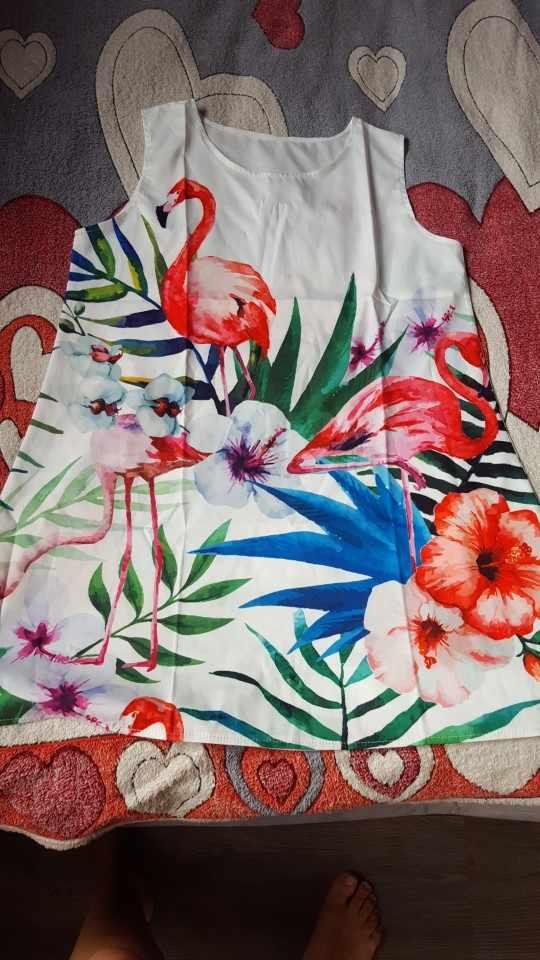 75cd23c363 ... Flamingo Dress Robe Femme Vestido Playa Women Dress Feather Elegant  Graceful Beach Dress Vestidos De Festa ...