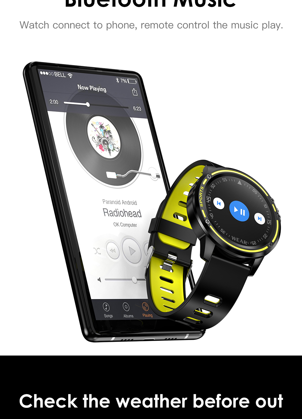 Reloj inteligente L8 IP68 para Hombre, Reloj inteligente resistente al agua con ECG presión arterial mediante PPG, relojes deportivos para fitness 15
