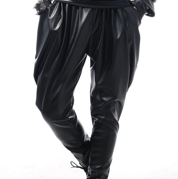 Black Singer Costumes Harem Pants Fashion Pants Men Gold Pants Man Stage Trousers Loose Sequins Harem Pants Mens Provide Custom
