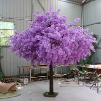 180cm tall by 150cm width Wedding purple artifical peach tree/ cherry blossom tree Wedding Decoration road leads Event Props