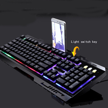 Gaming Keyboard and Mouse Combo,Wired Keyboard with Colorful Lights and Mouse with 4 Adjustable DPI for Gaming for PC/laptop/MAC backlight game keyboard and mouse suit wired gaming keyboard and mouse combo 104 kyes gaming keyboard with wired 6d mouse kx04