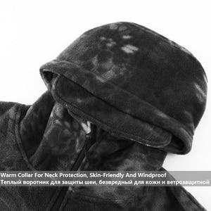Image 3 - Mege Marke Herbst Winter Military Fleece Camouflage Taktischen männer Kleidung Polar Warme Multicam Armee Männer Mantel Outwear Hoodie