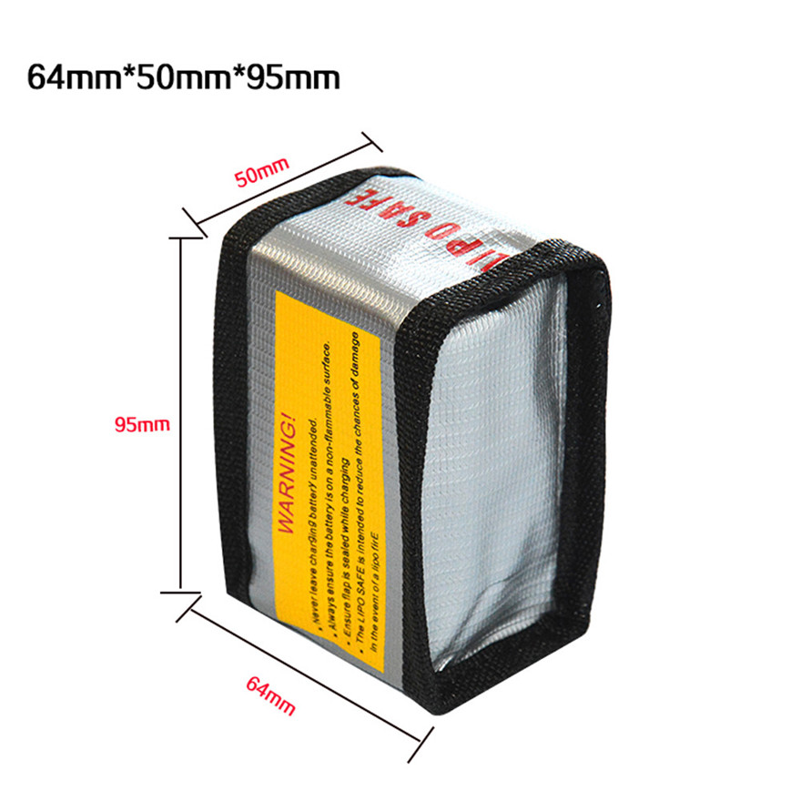 High Quality LiPo Li-Po Battery Fireproof Safety Guard Safe Bag 64*50*95MM Toys