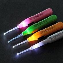 Мигающие светодиодные ушные палочки кюретка ухочистка может CSV