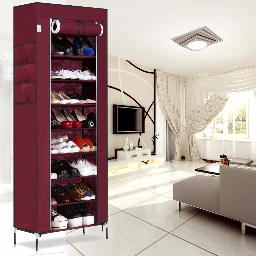 Homdox Shoe Cabinet Shoes Racks Storage Large Capacity Home Furniture Diy Simple 9 Layers Domestic Delivery N25* m middot h middot j 40s the simple shoe 10 combination cotton made shoes cabinet