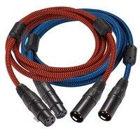 A Pair XLR Male to XLR Female Audiophile Speaker Cable Hifi Amplifier Microphone Extension Balanced Cable Audio 1M 2M 3M 5M 8M