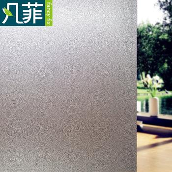 FANCY-FIX matowe szkło naklejka folia okienna prywatność do biura łazienka sypialnia sklep statyczne przylgnięcie DIY folia dekoracyjna bez kleju tanie i dobre opinie FANCY-FIX Statyczne czepiać Transparent01 Nieprzezroczyste Tłoczone Matowe trawione Szkło filmy Izolacja cieplna Przeciwwybuchowe