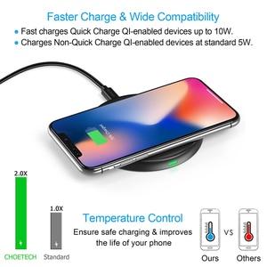 Image 4 - CHOETECH 10W צ י אלחוטי מטען עבור iPhone 12 X Xs Xr 8 מהיר טעינה אלחוטי pad עבור AirPods סמסונג גלקסי 9 S10 S9/S9