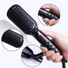 Cheaper Pro LCD Heating Electric Ionic Fast Safe Hair Straightener Anti static Ceramic Straightening Brush straightener hair