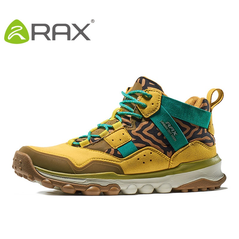 Rax Men Outdoor Hiking Shoes High Top Women Sports Shoes 2017 Autumn And Winter Damping Sneaker For Couple Models  B2607 winter men s outdoor warm cotton hiking sports boots shoes men high top camping sneakers shoes chaussures hombre