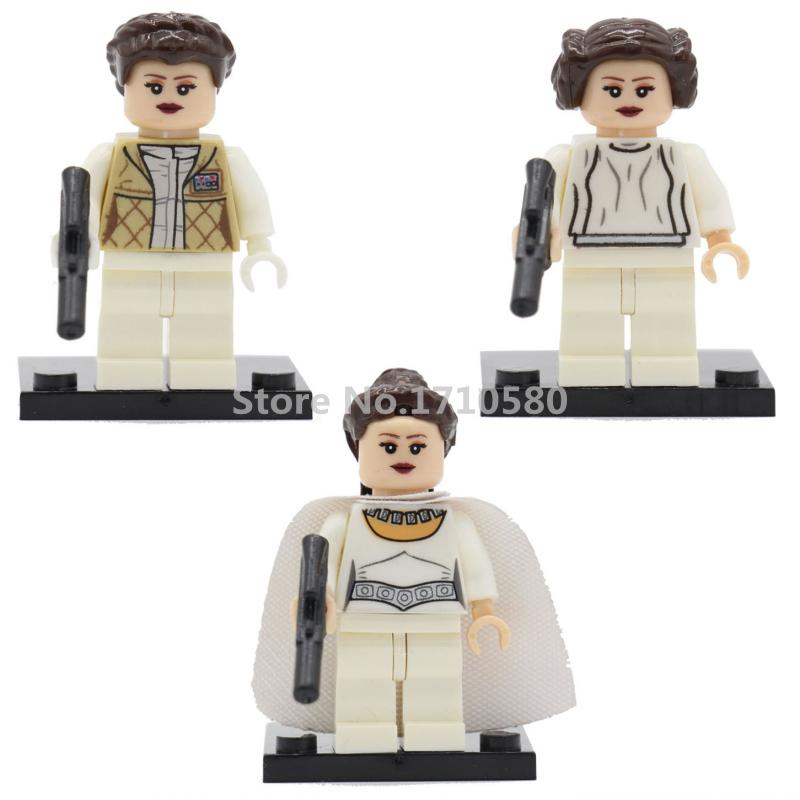 PG8005 Star Wars Minifigures Princess LEIA Constructing Blocks Set Mannequin Figures Bricks Toys For Kids