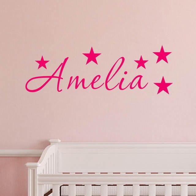 online shop jjrui personalized name stars wall art sticker mural