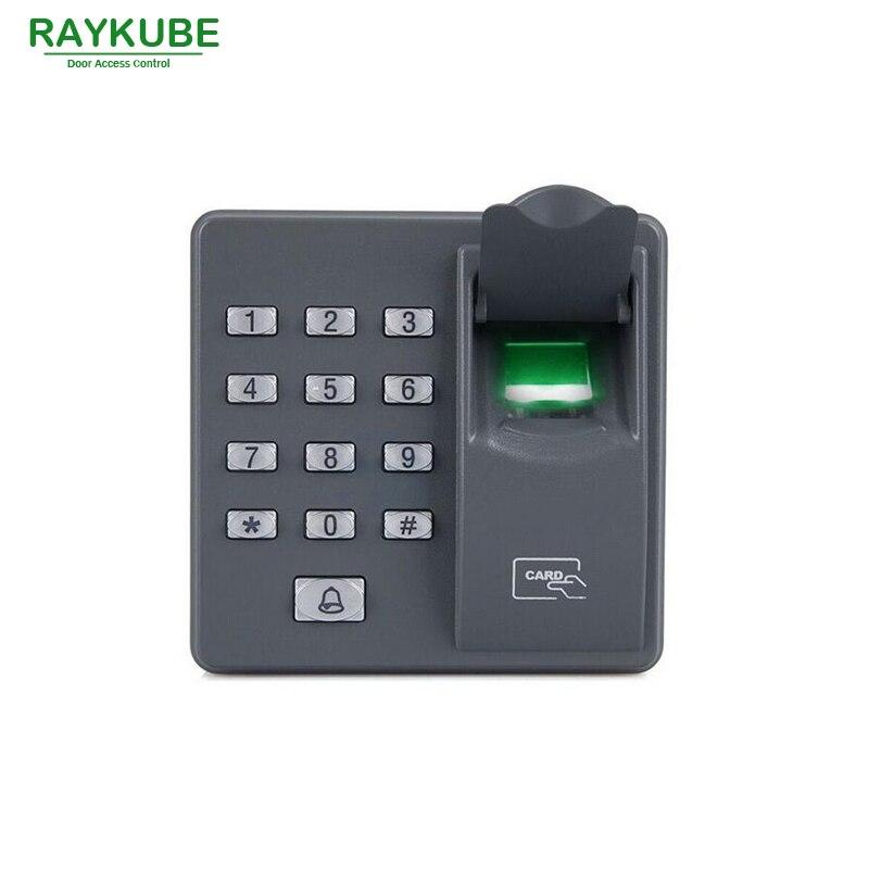 RAYKUBE Door Access Control System Kit 180KG/280KG Electric Magnetic Lock + Biometric Fingerprint Reader RFID Password Keypad
