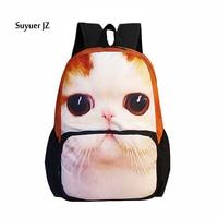 Fashion 2016 Colorful Women Men Tiger Leopard Backpack 3D Animal Print Boys Girls School Bagpack Tourism