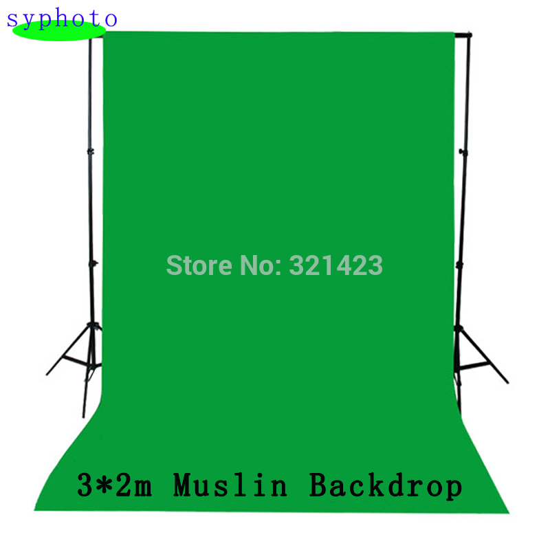 3x2M Green screen fotografia valentine backdrop cotton Muslin backgrounds for photo studio Chromakey
