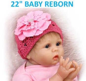 """Muñecas reborn de silicona suave NPK de 22 """", bebés reborn, muñecas de princesa reborn de color rosa, bebés recién nacidos para regalar a niños"""