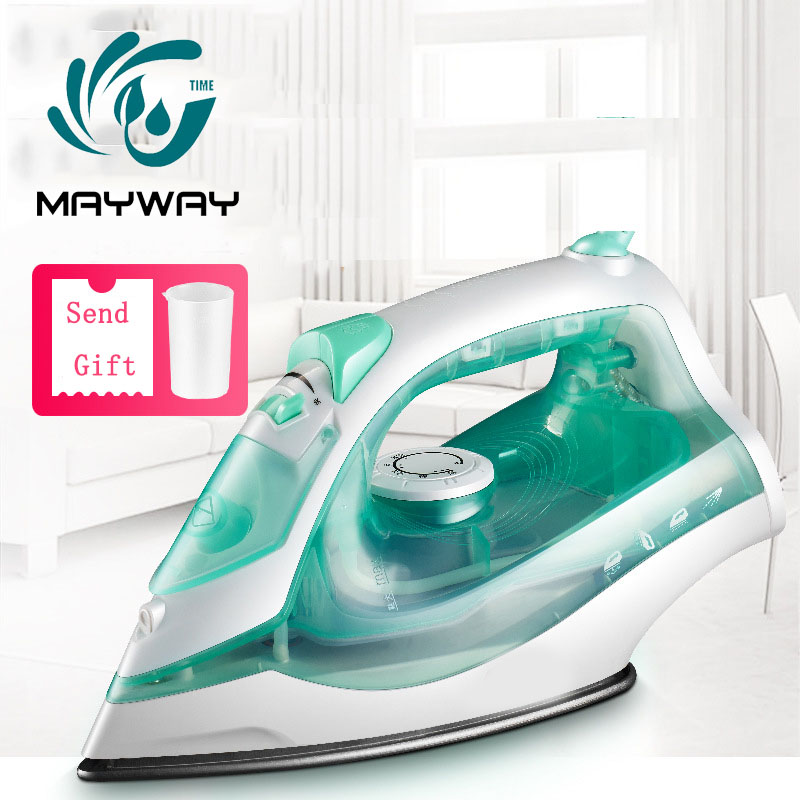 1200W Mini Portable Electric Steam Iron For Clothes Multifunction Adjustable Ceramic Soleplate Iron For Ironing Travel Home