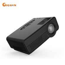 Gigxon-G66 80 lúmenes MINI Proyector para el Teatro Casero EE. UU. enchufe de Poco Ruido LED Proyector HDMI Full HD 1080 P de Vídeo TV