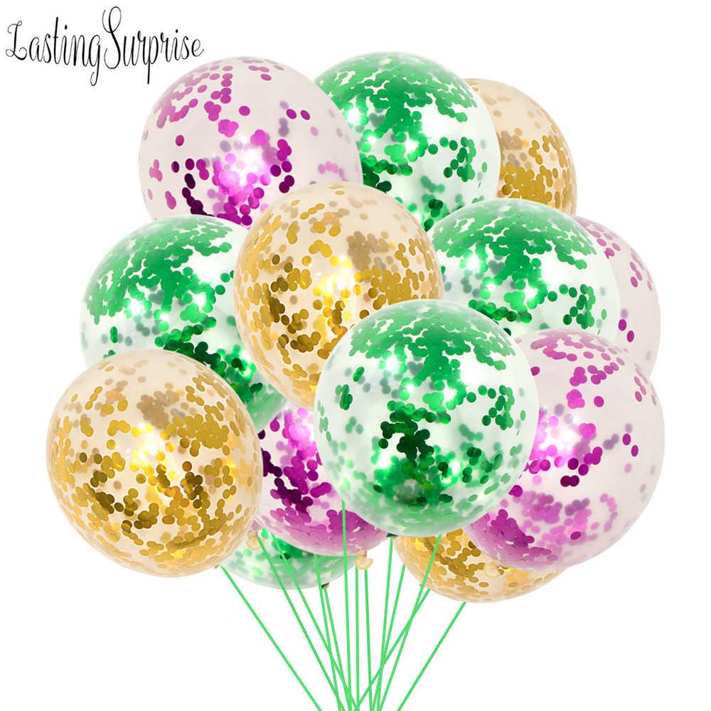 Kinder Party 5 stücke 12 zoll Konfetti Luftballons Klar Latex Ballon Für Hochzeit Dekoration Glücklich Geburtstag Baby Shower Party Supplies